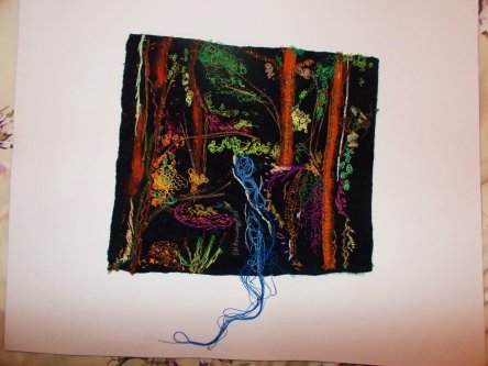 'Psychedelic Forest' Embroidery Piece