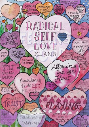 'Radical Self Love Means' pack of A5 Greetings Cards
