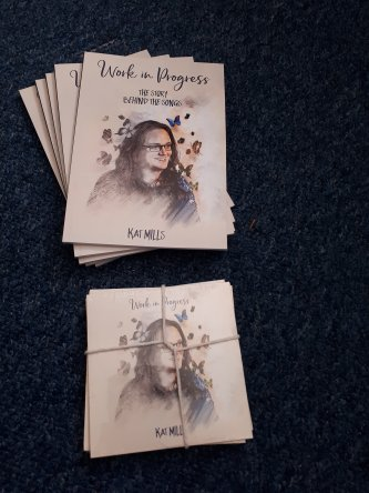 5 copies  each of 'work in progress' the album and the book