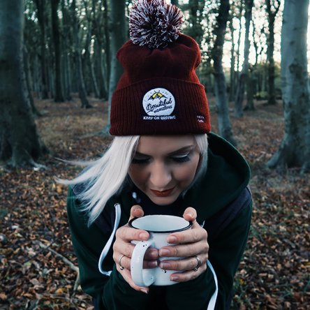 'Beautiful Horizons' Burgundy Beanie