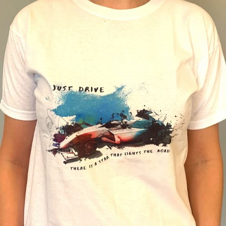 Just Drive T-Shirt - WHITE