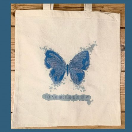 Butterfly Tote Bag & Signed Lyric Print