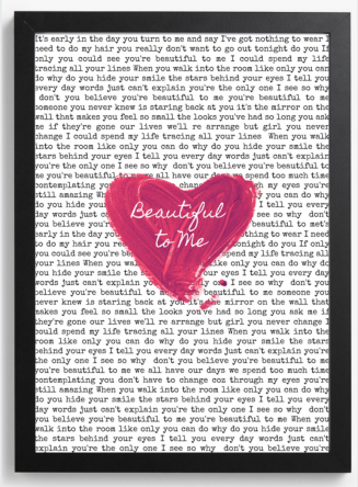 Beautiful To Me Lyric Print