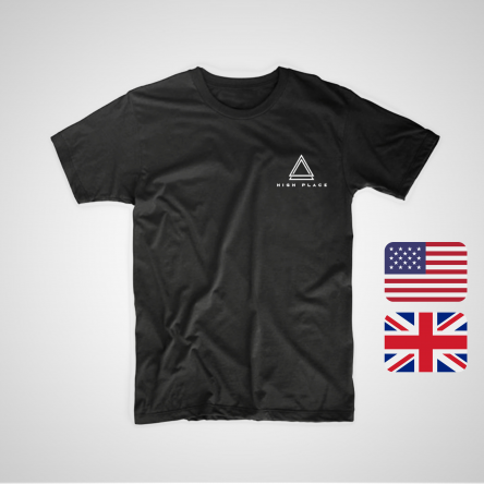[PRE-ORDER] - UK/EU/USA - The High Place T-Shirt - Black (incl. International Postage)