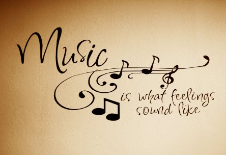 A4 'Music Is What Feelings Sound Like' Poster
